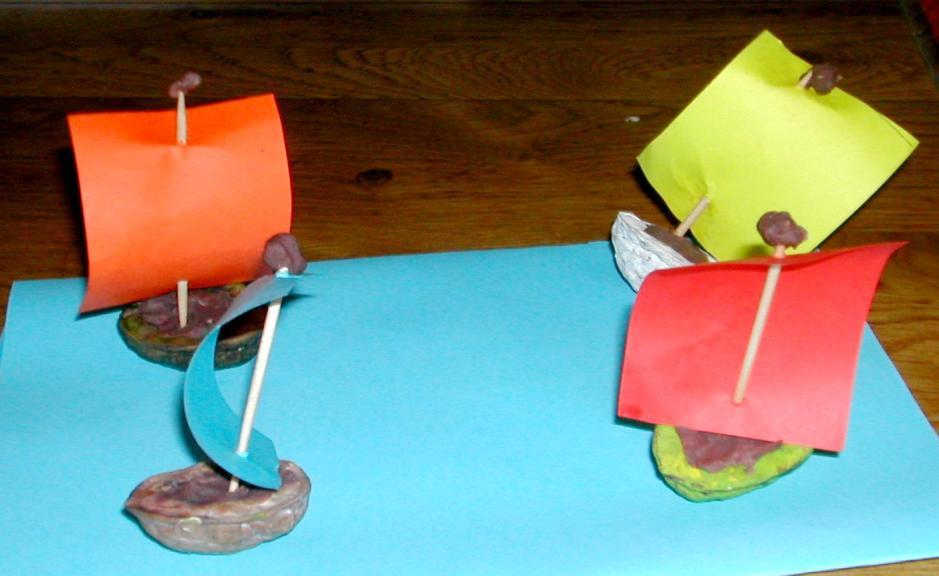 Les bateaux coquilles de noix