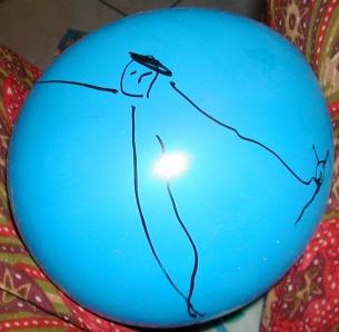 Malon sur un ballon