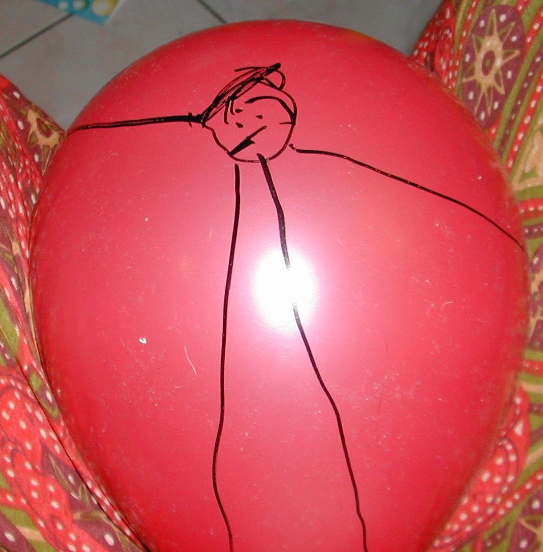 Dessiner sur des ballons activit s la maison - Comment degonfler un ballon ...