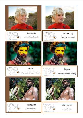 cartes nomenclature peuples océanie