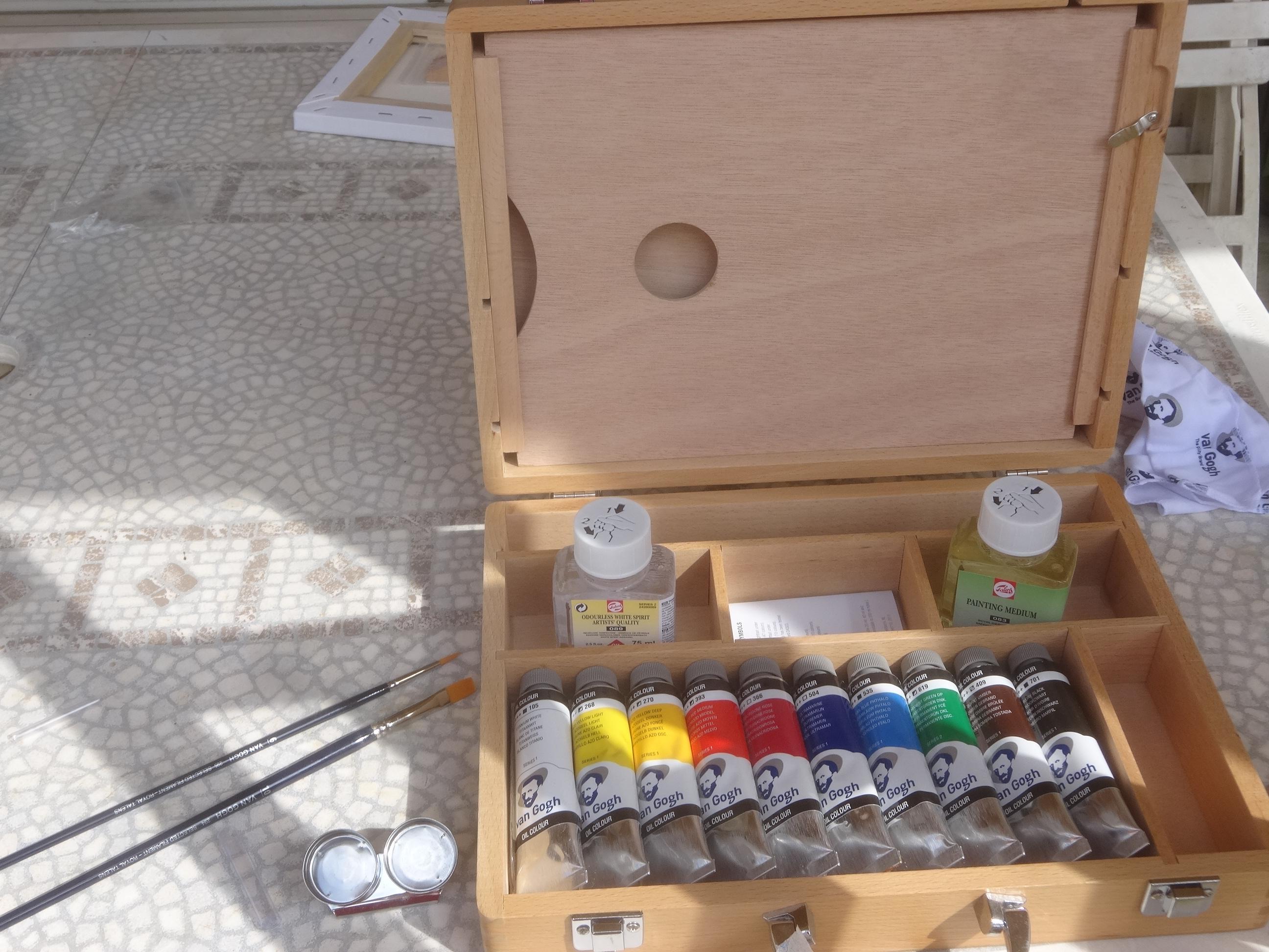 Premiers essais la peinture l huile activit s la for Materiel peinture a l huile