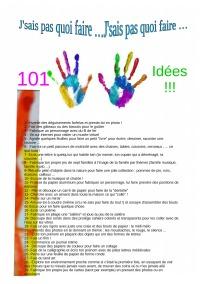 j'sais pas quoi faire 101 idées A4